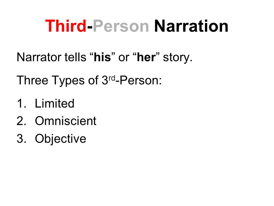 Third-Person Narration