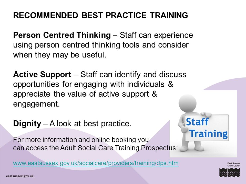 RECOMMENDED BEST PRACTICE TRAINING