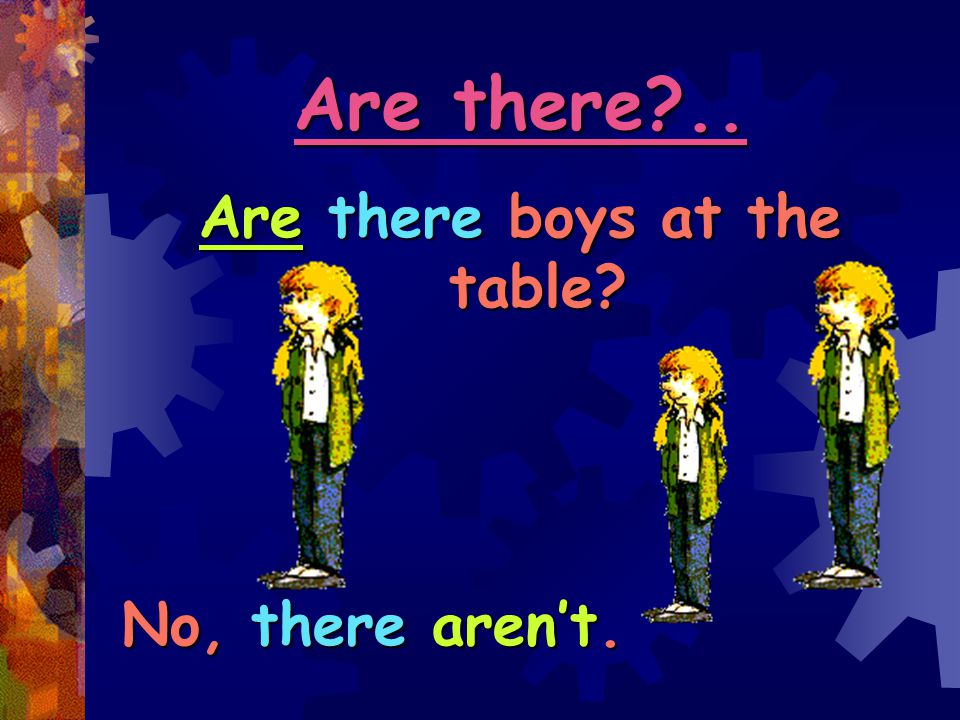 Are there boys at the table