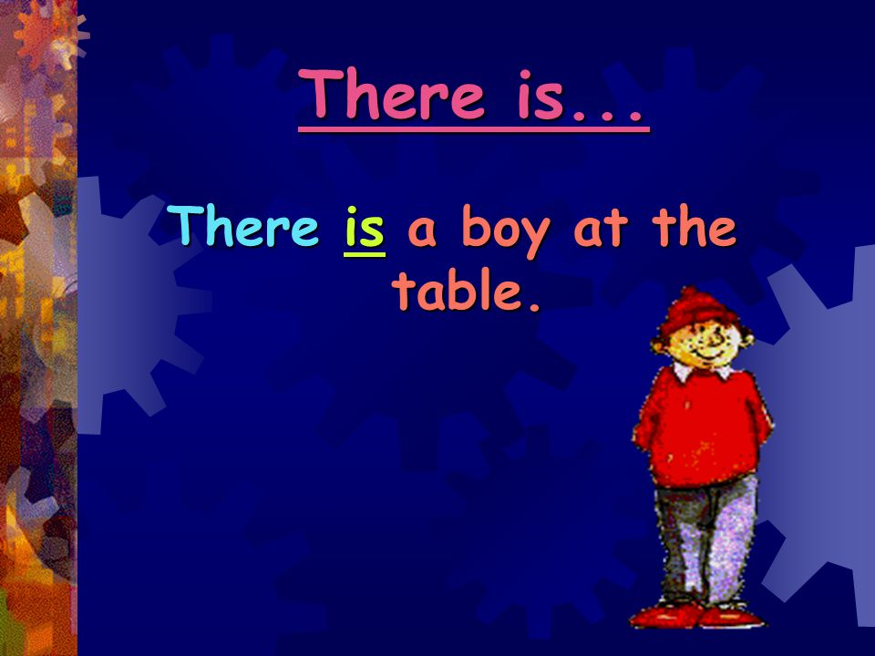 There is a boy at the table.