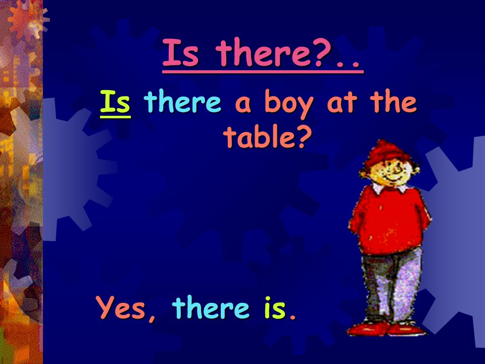 Is there a boy at the table