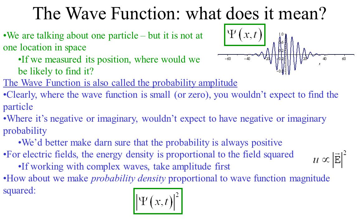 The Wave Function: what does it mean