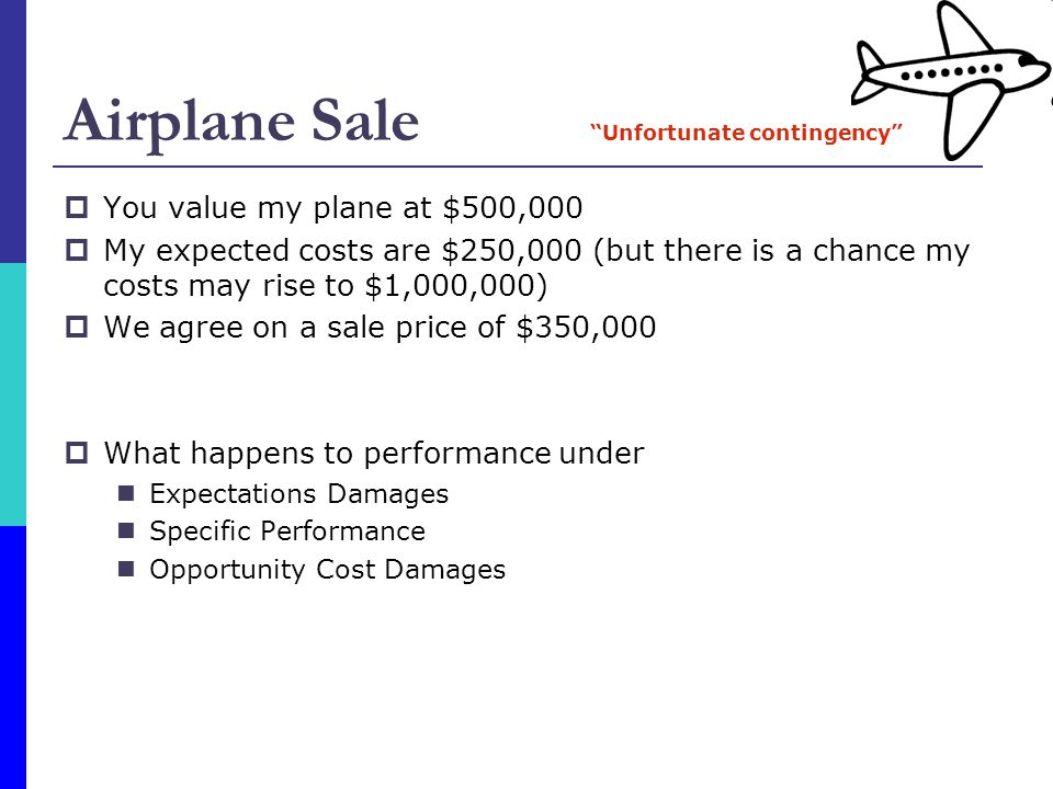 Airplane Sale You value my plane at $500,000