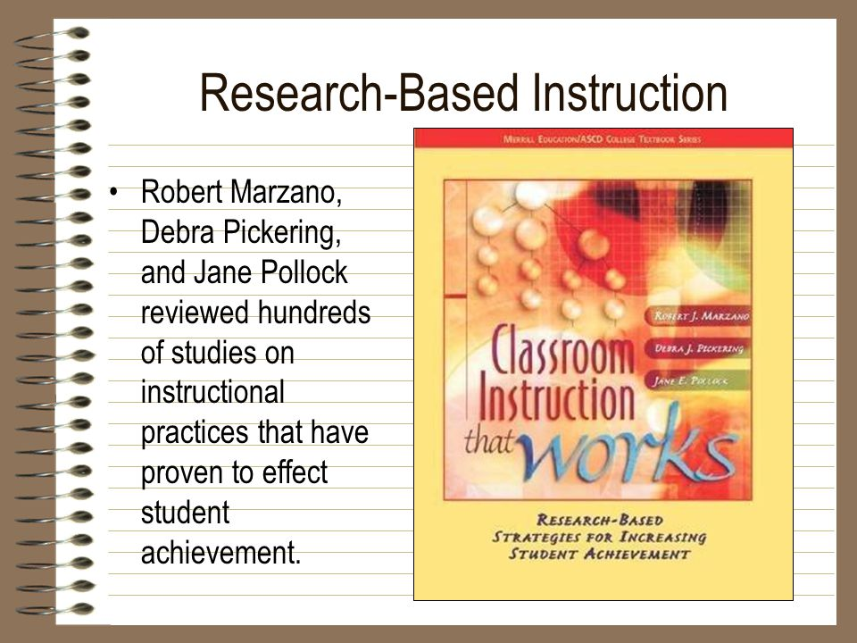 Classroom Instruction That Works 9 Strategies For Successful