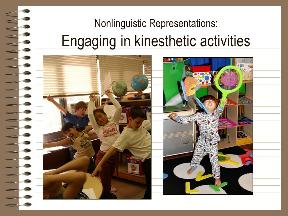 Nonlinguistic Representations: Engaging in kinesthetic activities