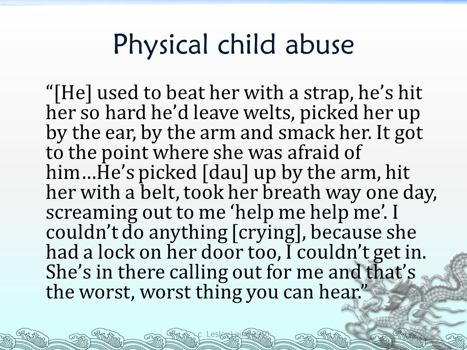 Physical child abuse