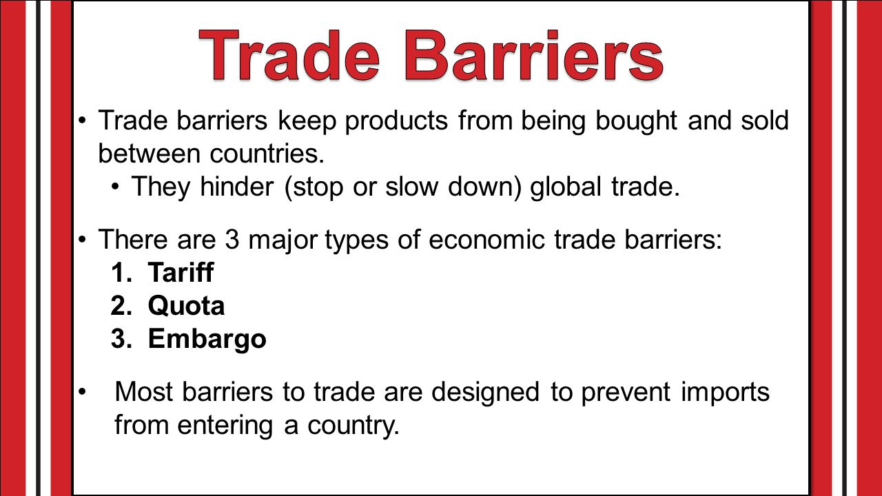 what is trade barrier class 10