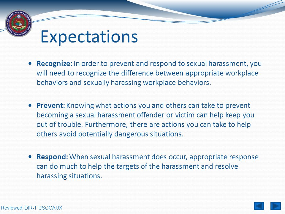 Sexual harassment in the workplace training scenarios