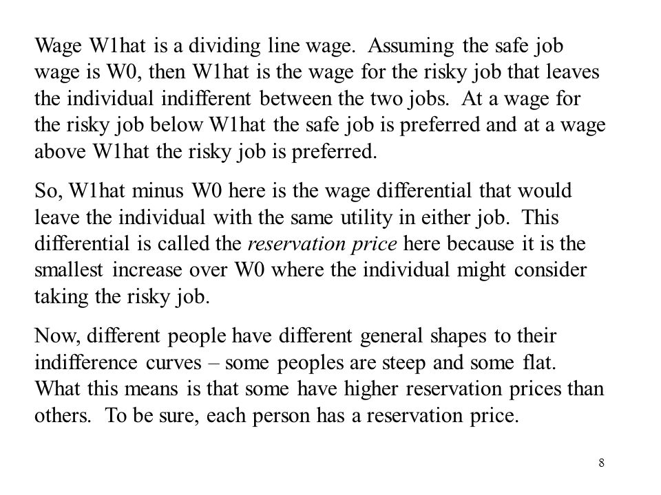 Wage W1hat is a dividing line wage