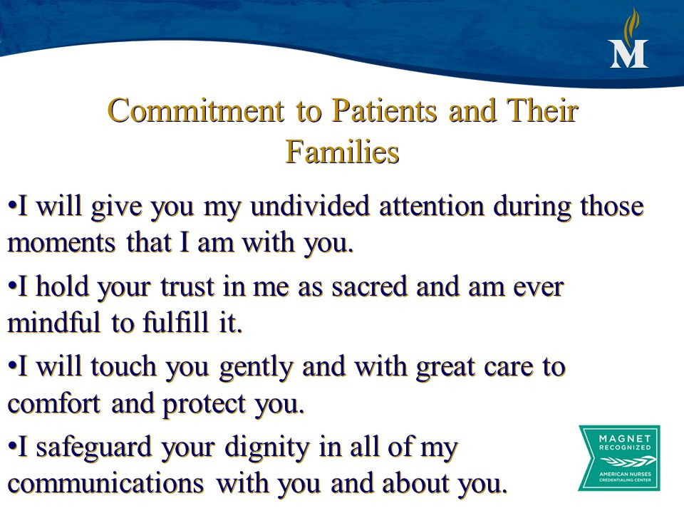 Commitment to Patients and Their Families