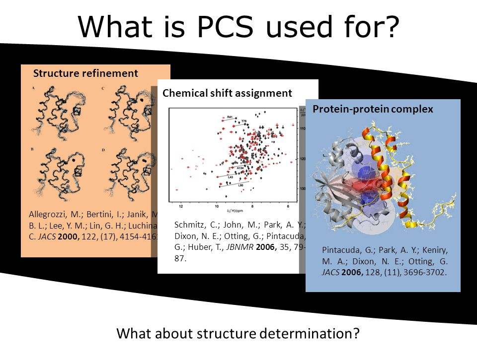 What is PCS used for What about structure determination