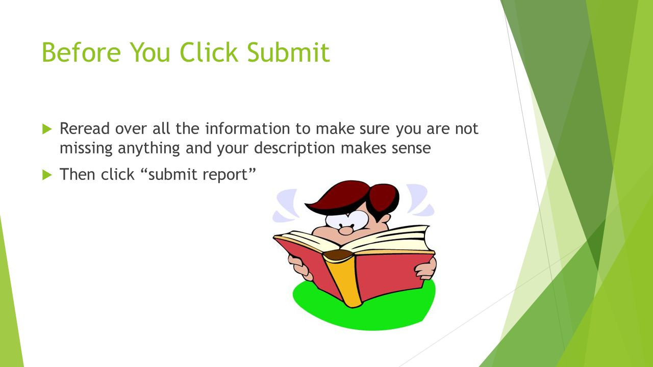 Before You Click Submit