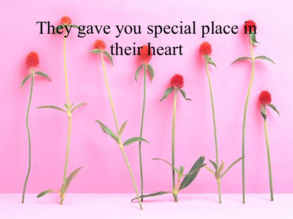 They gave you special place in their heart