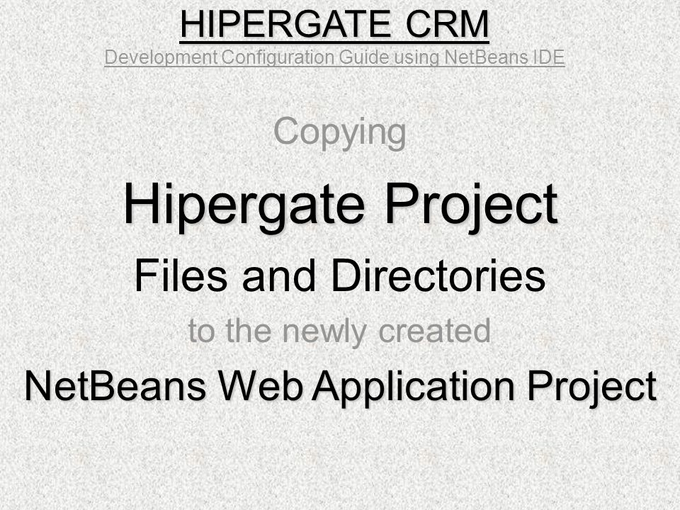 Hipergate Project Files and Directories