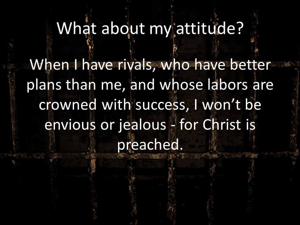 What about my attitude