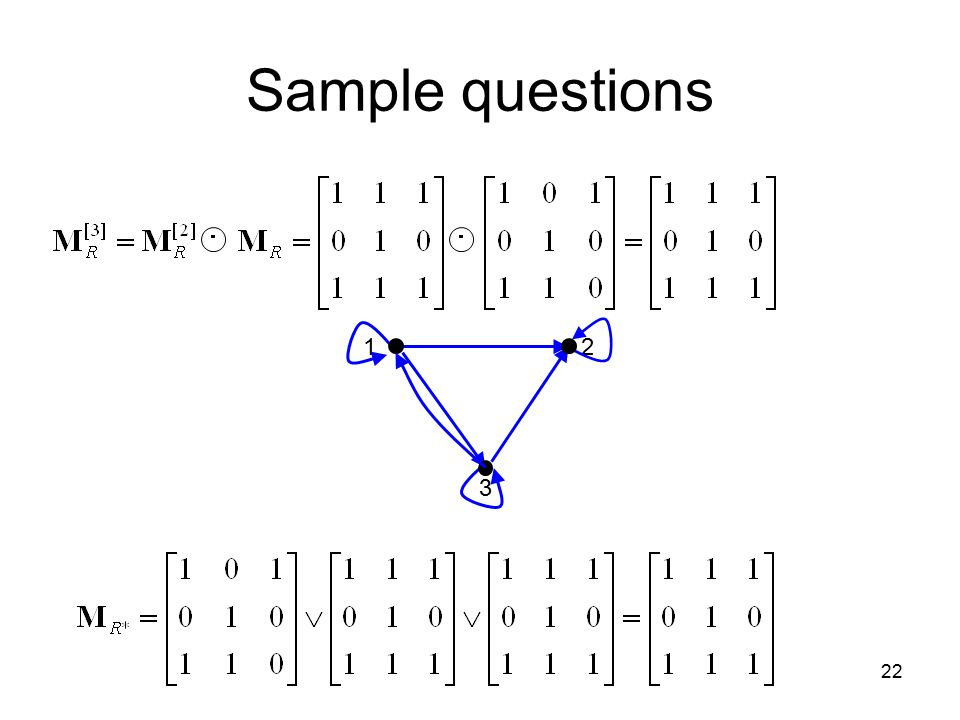 Sample questions  1 2 3