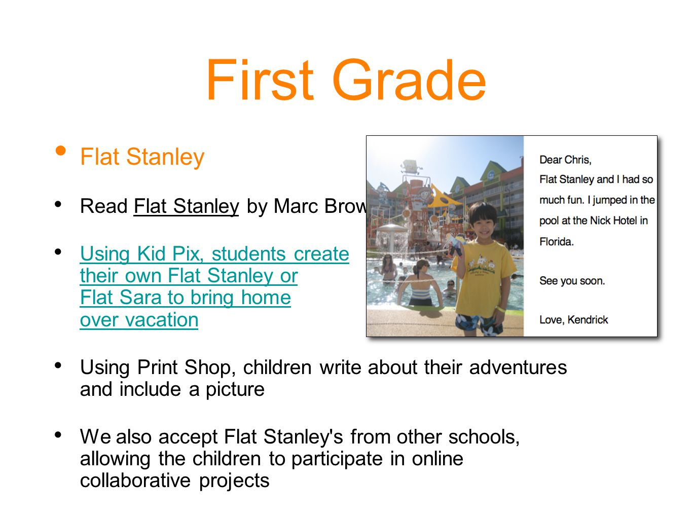 First Grade Flat Stanley Read Flat Stanley by Marc Brown