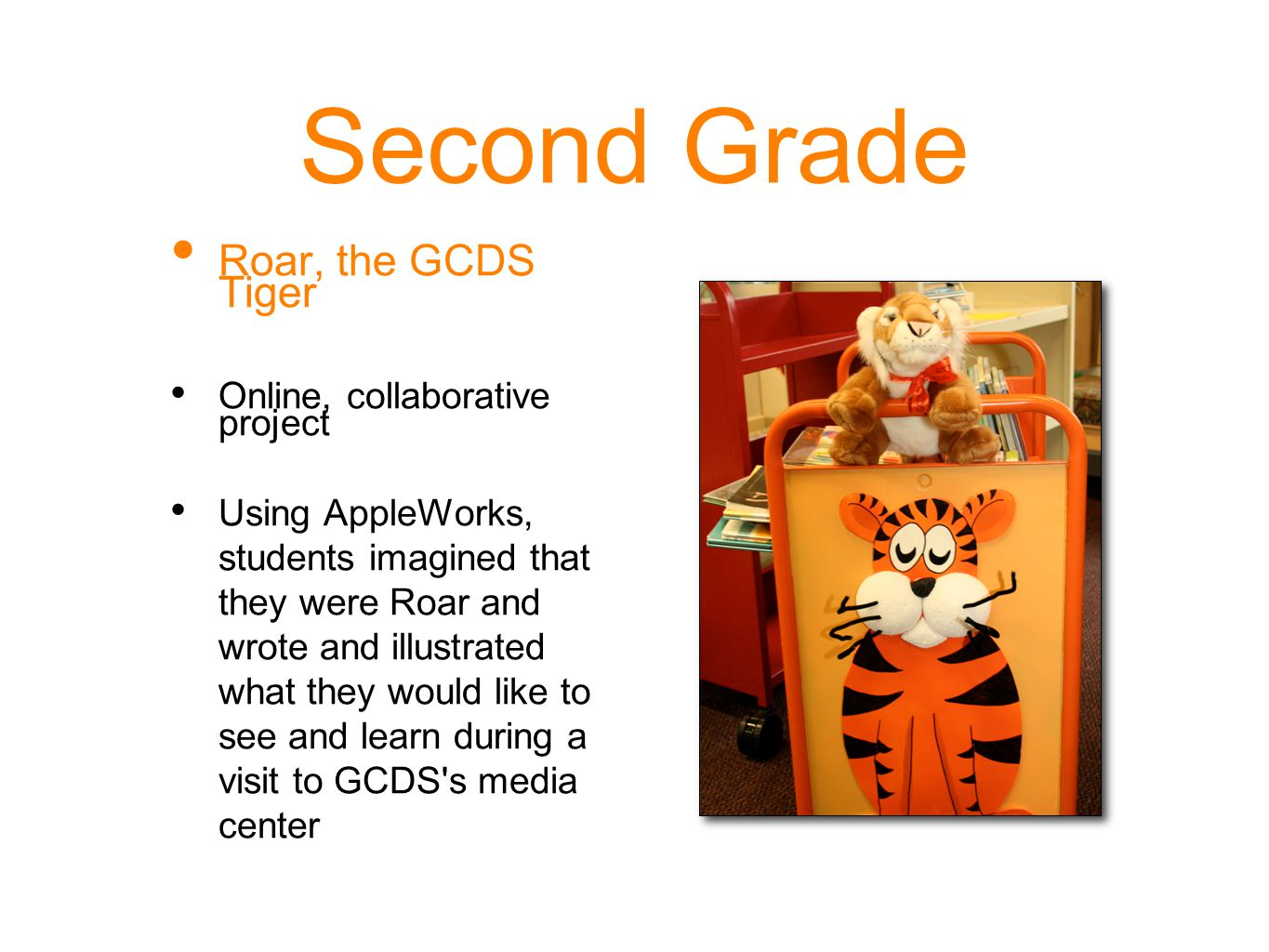 Second Grade Roar, the GCDS Tiger Online, collaborative project