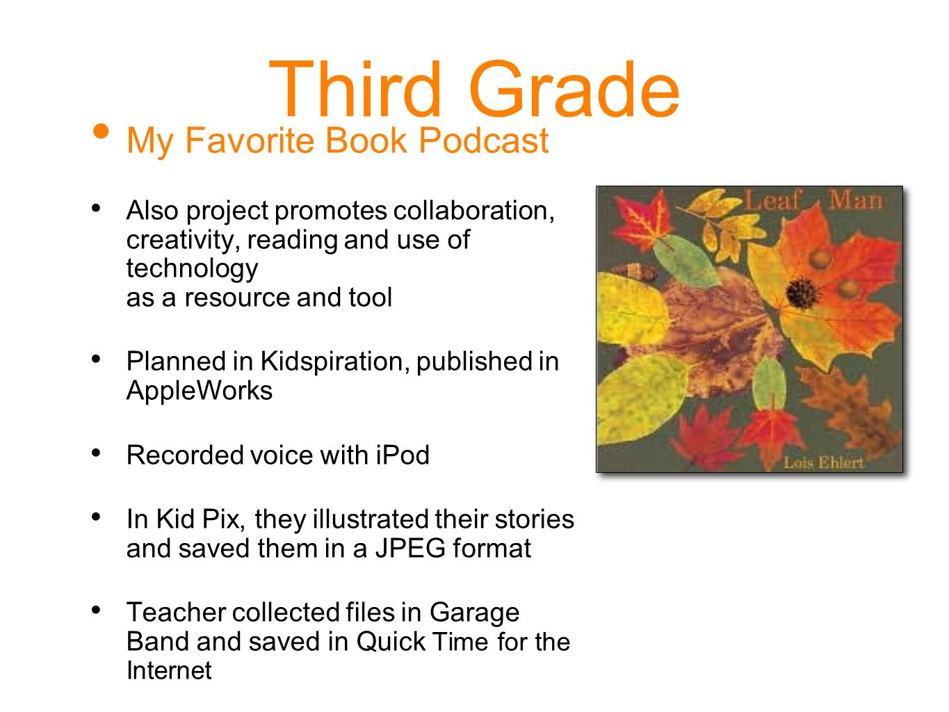 Third Grade My Favorite Book Podcast