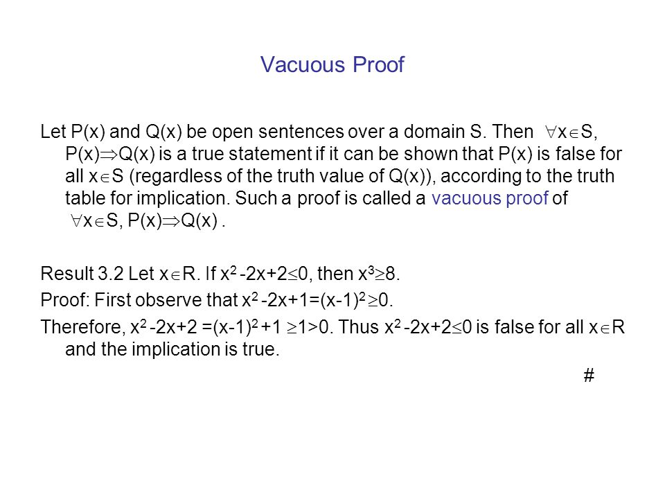 Vacuous Proof