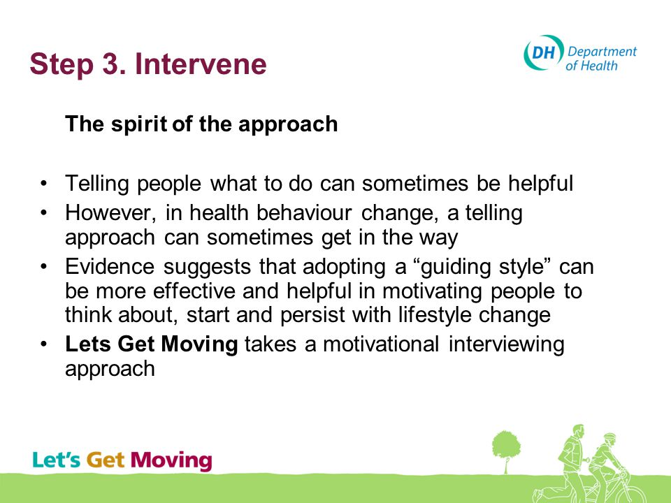 Step 3. Intervene Telling people what to do can sometimes be helpful