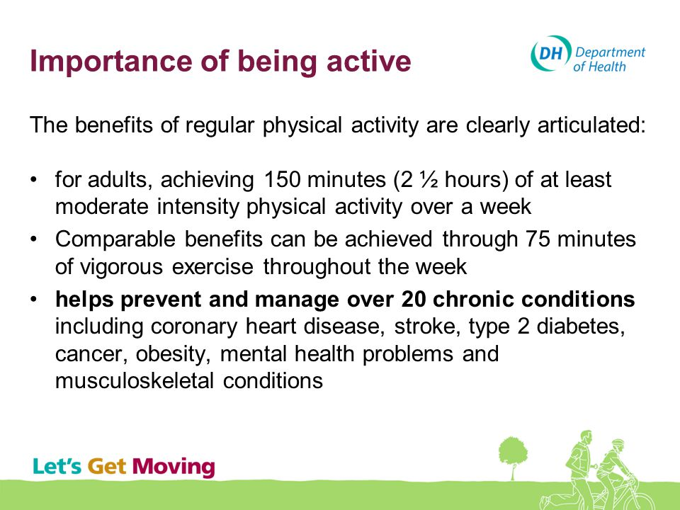 Importance of being active