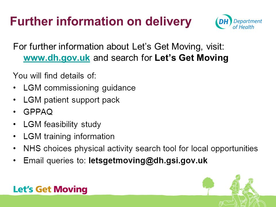 Further information on delivery