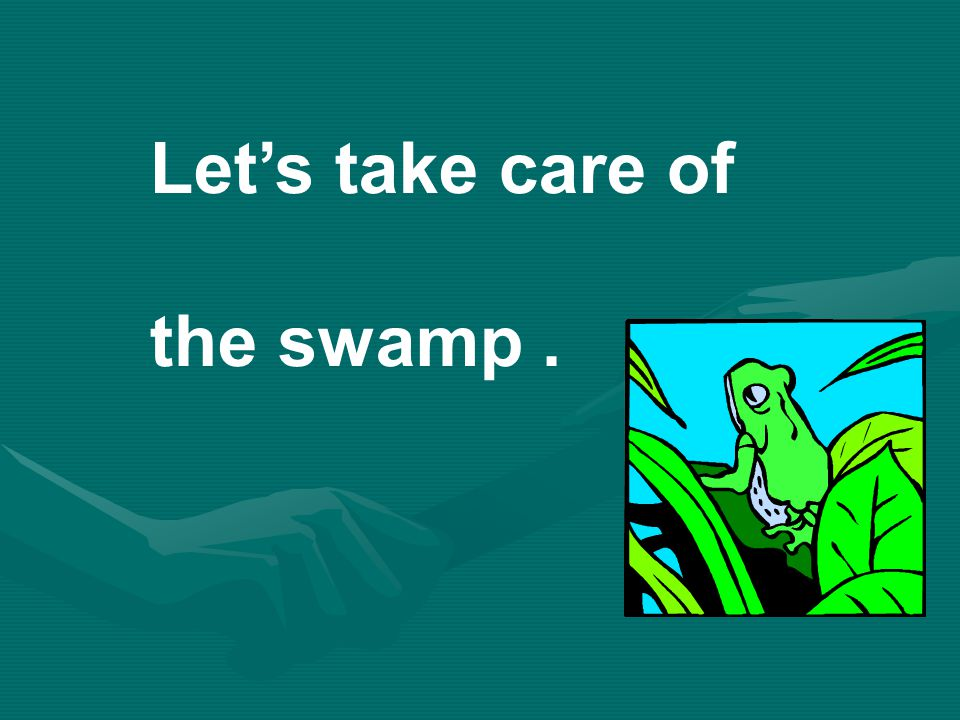 Let's take care of the swamp .