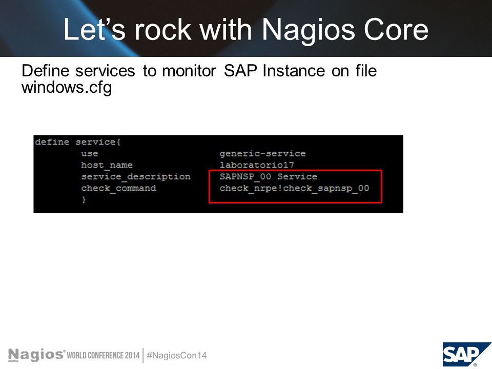 Monitoring SAP System with Nagios Core - ppt video online