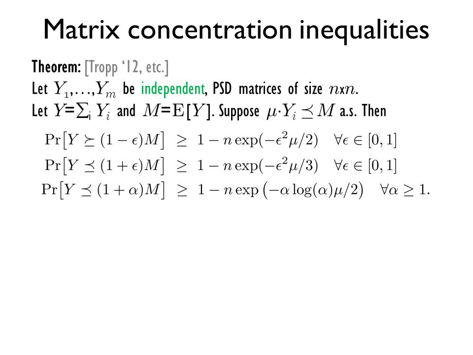 Matrix concentration inequalities