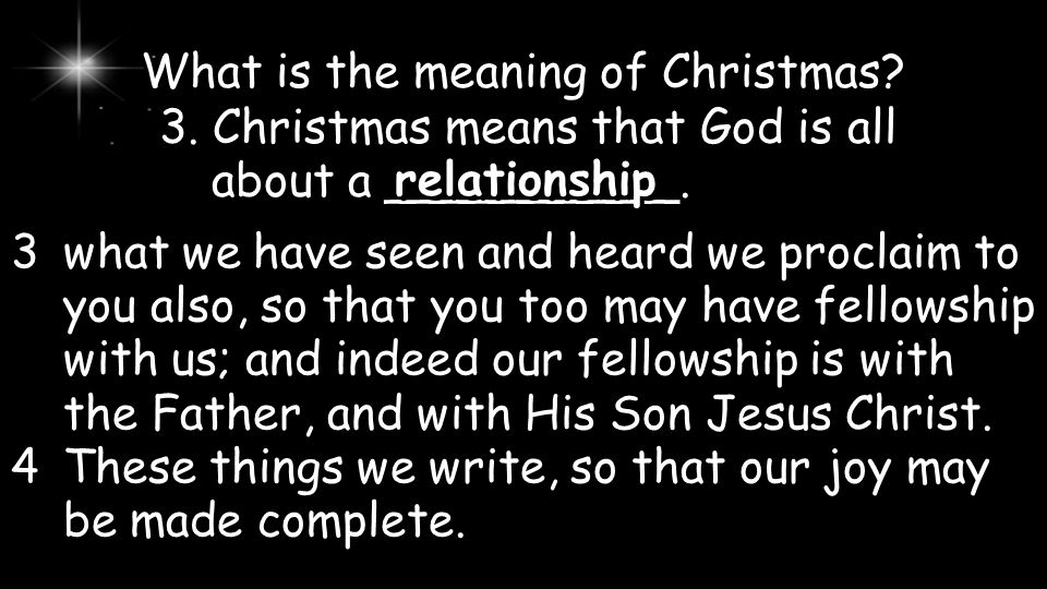 What is the meaning of Christmas