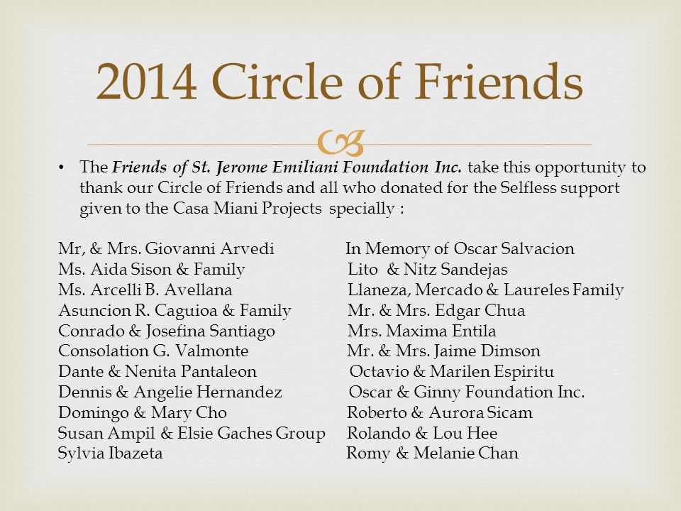 2014 Circle of Friends