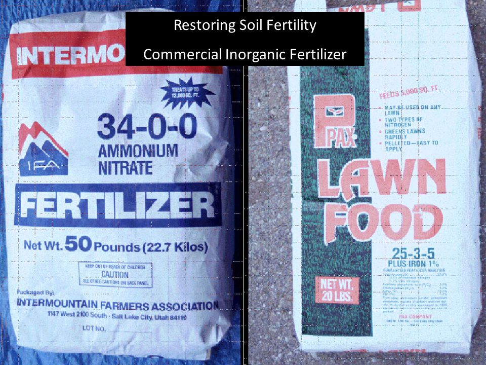 Restoring Soil Fertility Commercial Inorganic Fertilizer