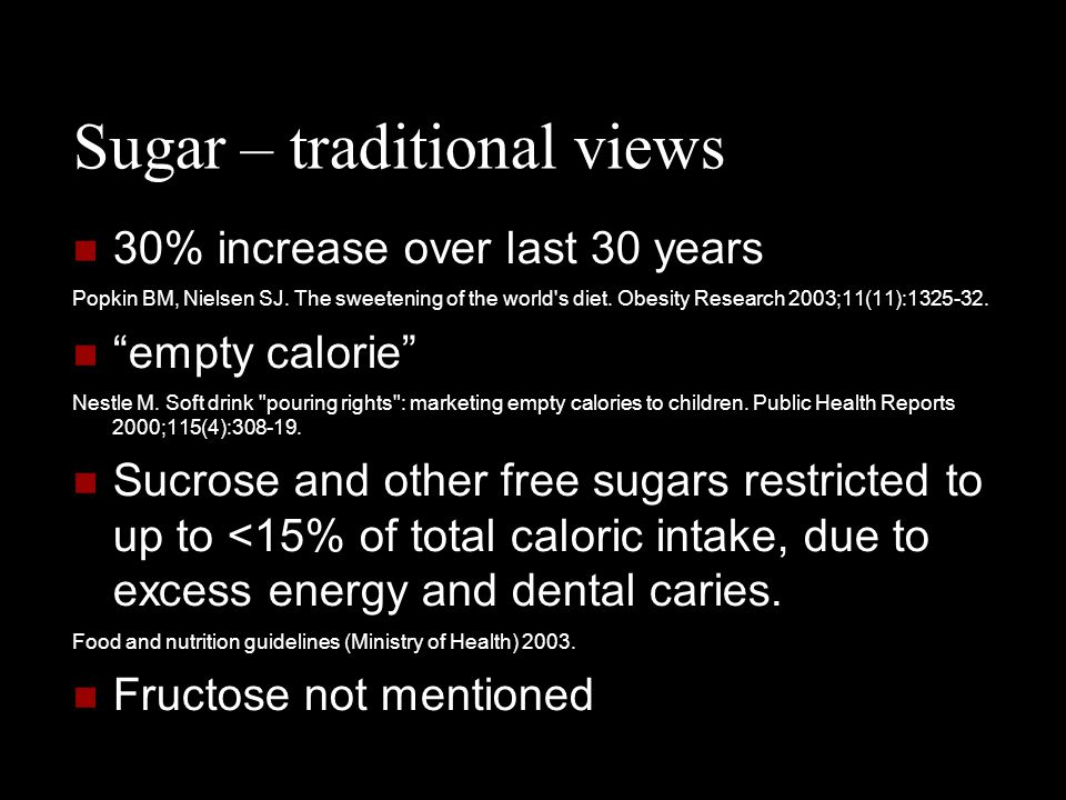 Sugar – traditional views