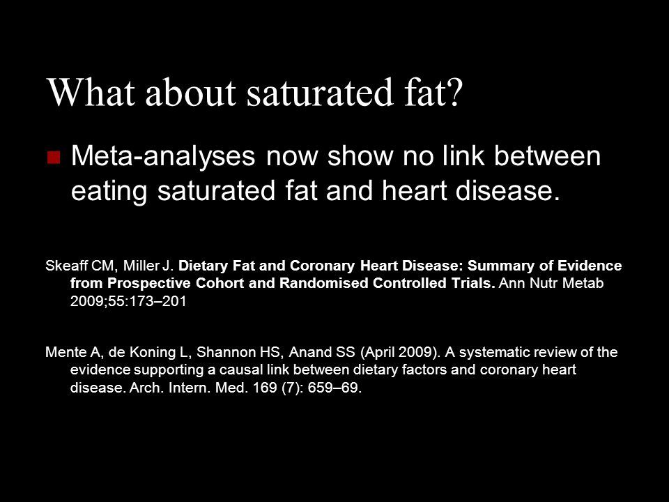 What about saturated fat