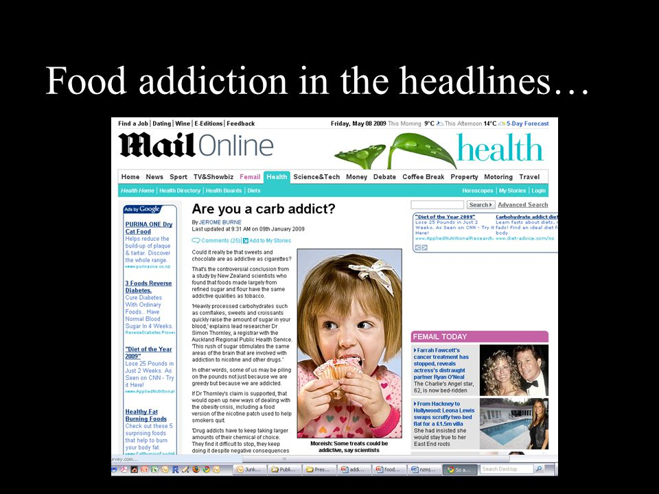 Food addiction in the headlines…