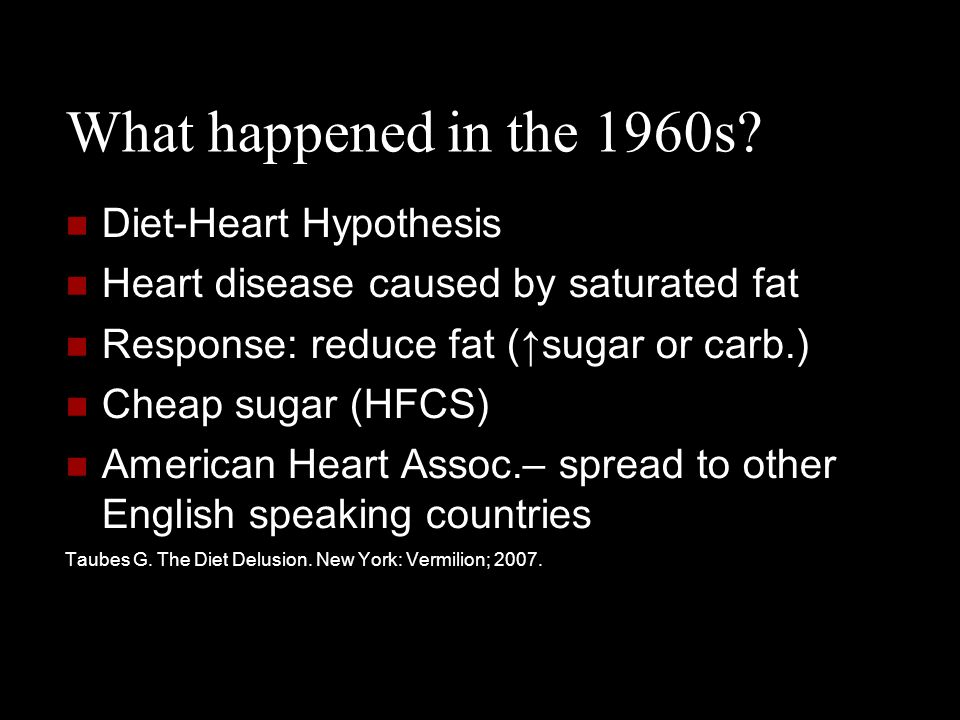 What happened in the 1960s Diet-Heart Hypothesis