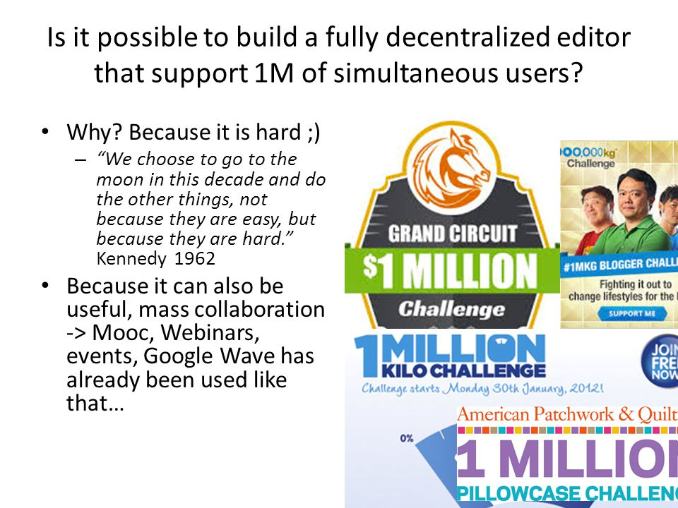 Is it possible to build a fully decentralized editor that support 1M of simultaneous users
