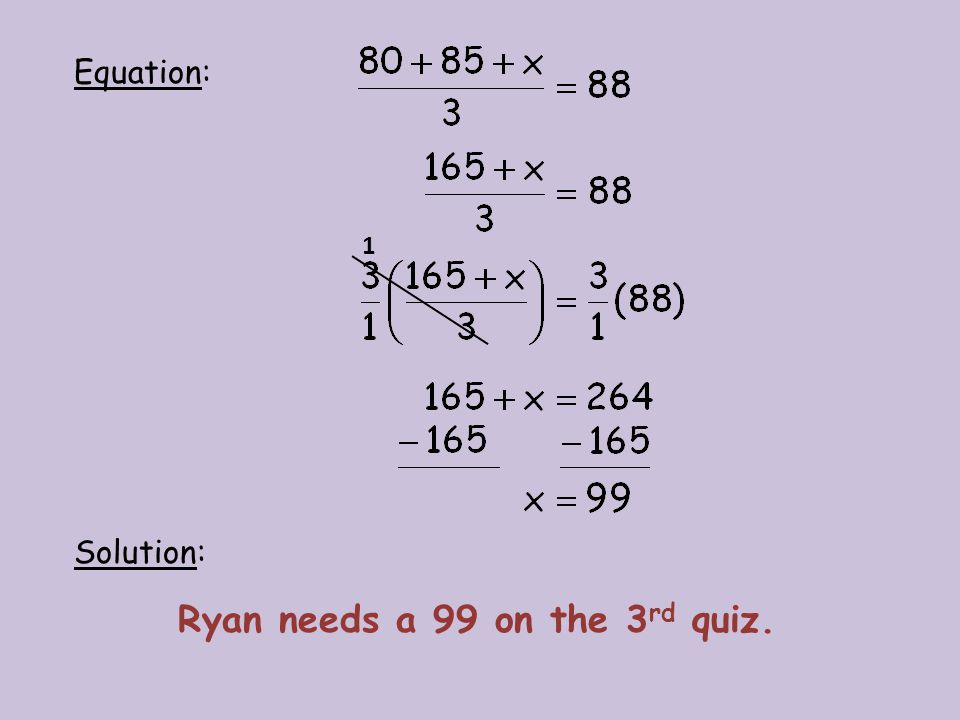 Ryan needs a 99 on the 3rd quiz.