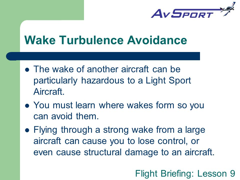 Wake Turbulence Avoidance