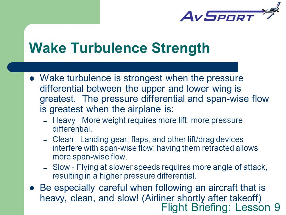 Wake Turbulence Strength