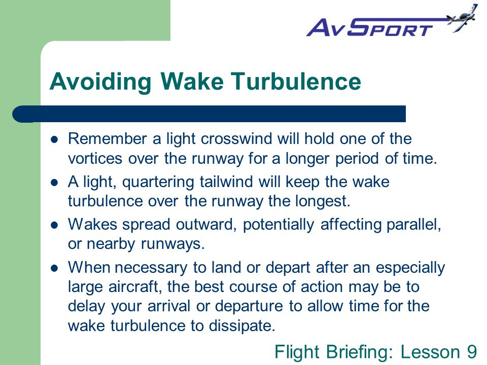 Avoiding Wake Turbulence