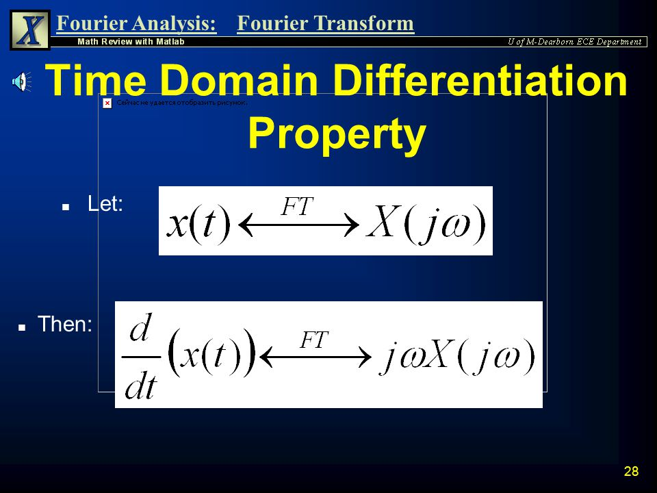 Time Domain Differentiation Property