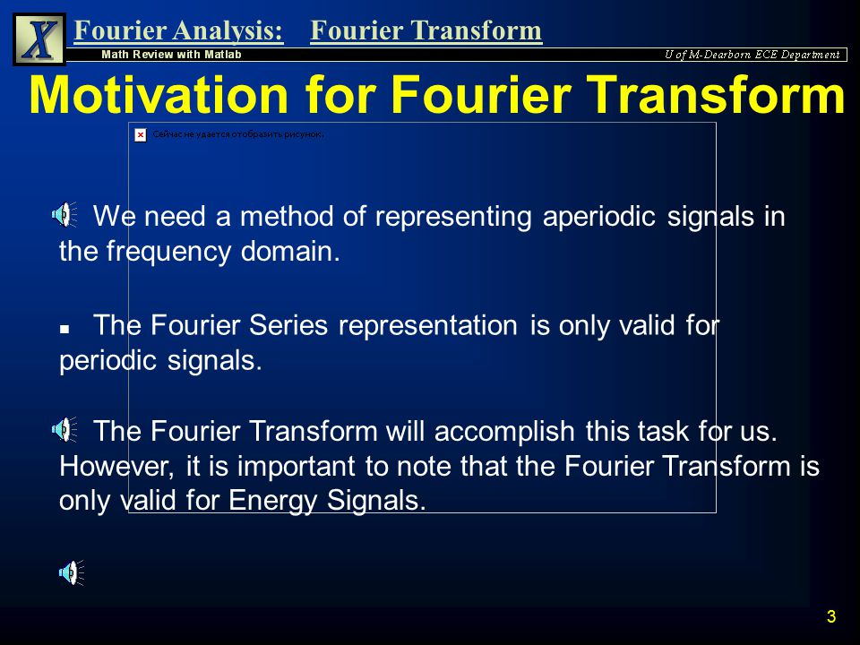Motivation for Fourier Transform