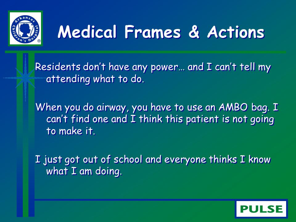 Medical Frames & Actions