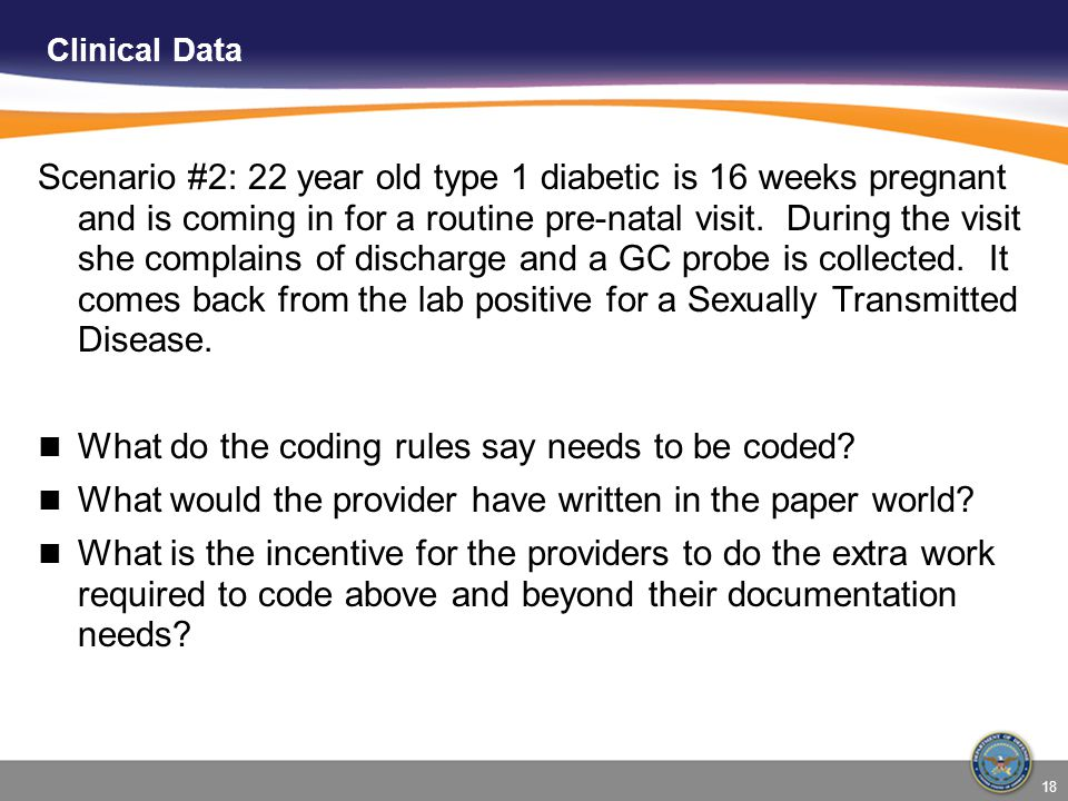What do the coding rules say needs to be coded