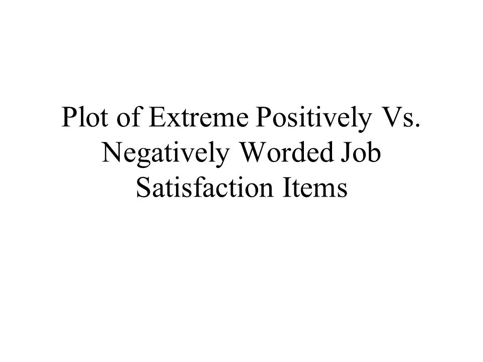 Plot of Extreme Positively Vs. Negatively Worded Job Satisfaction Items