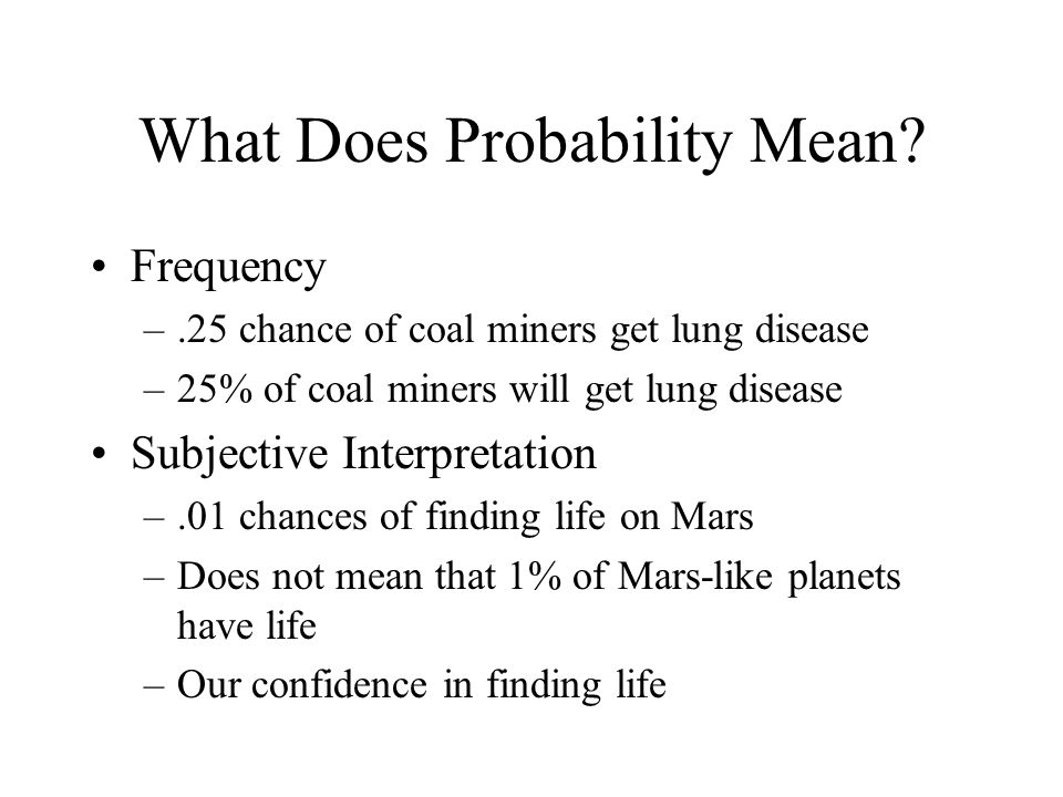What Does Probability Mean