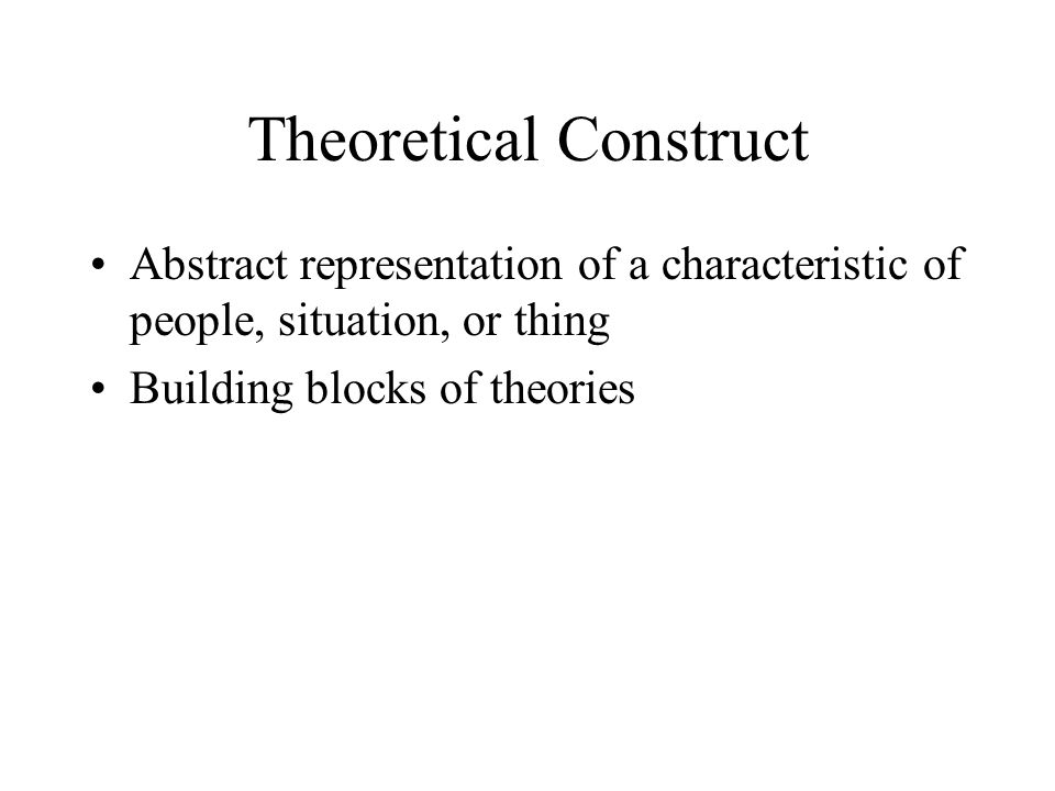 Theoretical Construct