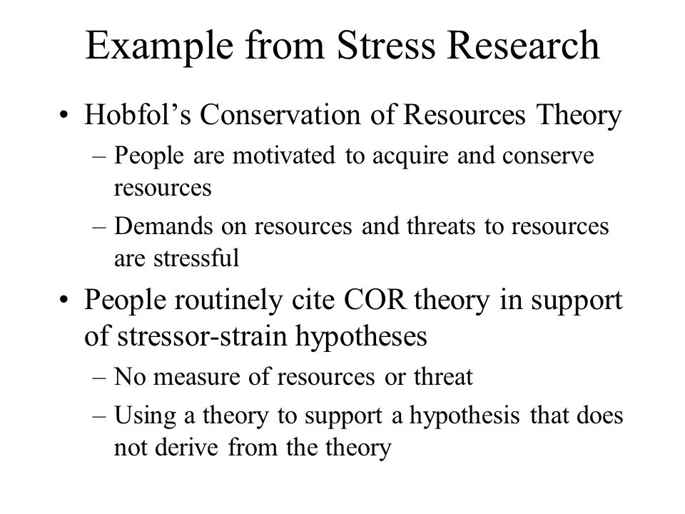 Example from Stress Research